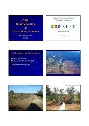 Coal Seam Gas or Crops, Soils, Grasses - GEMS Event Management