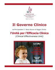 Il Governo Clinico all'ASMN - Arcispedale S. Maria Nuova