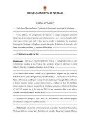 ASSEMBLEIA MUNICIPAL DE ALCOBAÇA EDITAL N.º 5/2007 ...