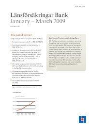 Länsförsäkringar Bank January – March 2009