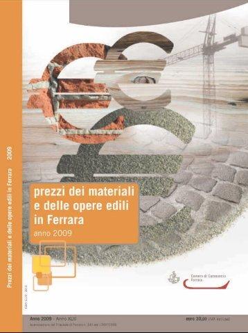 Prezzi dei materiali e delle opere edili in Ferrara anno 2009