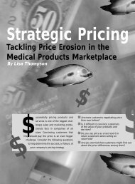 Tackling Price Erosion in the Medical Products ... - Pricing2B