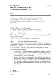 Bundesgesetz über den Versicherungsvertrag - admin.ch