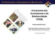 A Economia dos Ecossistemas e da Biodiversidade (TEEB) - SIGAM