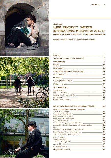 Since 1666 - lund university | sweden international