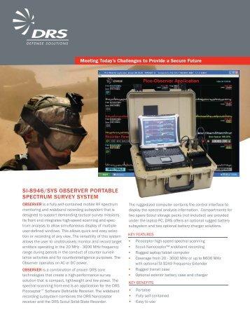 si-8946/sys observer portable spectrum survey system - DRS ...