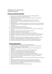AP Biology Unit 3 Study Guide Chapters 8, 9 and 10