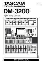 DM-3200 Digital Mixer Owner's Manual - Tascam