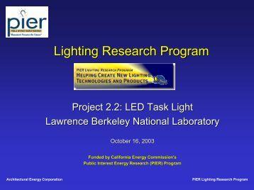2.2: LED Task Light - Lawrence Berkeley National Laboratory