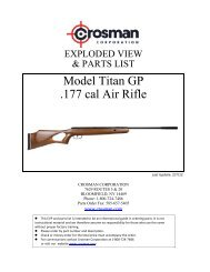 Model Titan GP .177 cal Air Rifle - Crosman