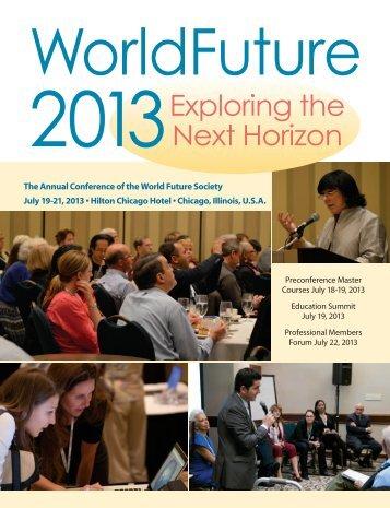 Download The WorldFuture 2013 Program PDF - World Future Society