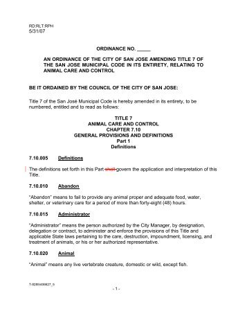 5/31/07 ordinance no. _____ an ordinance of the city of san jose ...