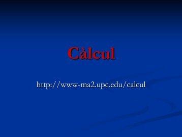 Càlcul - UPC