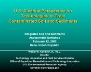monitoring and remediation technologies for contaminated soils ...