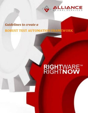Test Automation Framework Guidelines - Bitpipe