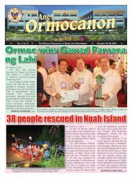 Ang Ormocanon - Vol 2 - Issue 5.indd - City Government of Ormoc