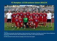 FC Kempten - jfgwittelsbacherland.de