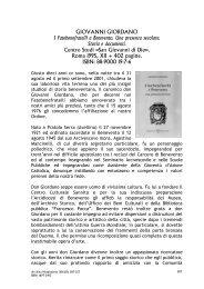 GIOVANNI GIORDANO I Fatebenefratelli a Benevento. Una ...