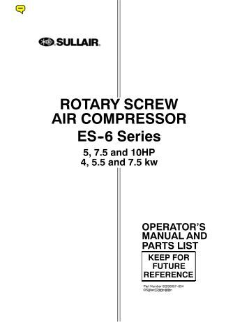 gardner denver air compressor parts manual