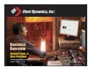 Product - Steel Dynamics, Inc.