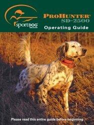 Operating Guide - SportDOG