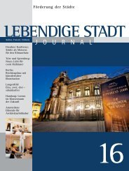 Journal 16 zum downloaden (PDF 2,3 MB - Lebendige Stadt