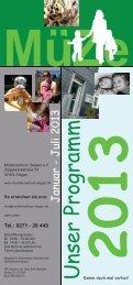 Programmheft 1/2013 - Mütterzentrum Siegen