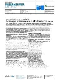 Manager müssen auch Moderatoren sein - Universität St.Gallen