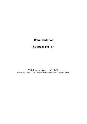 Dokumentation Sambuca Projekt