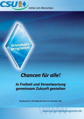 Grundsatzprogramm - CSU Schweinheim