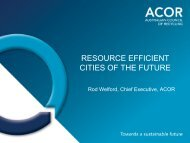 RESOURCE EFFICIENT CITIES OF THE FUTURE