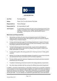 JOB DESCRIPTION Job Title: Purchasing Officer Salary ... - Eteach
