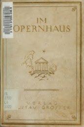 Im Opernhaus : ein Nachschlagebuch