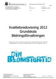 3-2013 Kvalitetsredovisning 2012 Fskklass grundskola frh, 752 kB