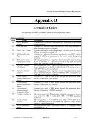 Appendix D Disposition Codes
