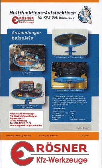 Multifunktions-Aufstecktisch - Rösner KFZ Werkzeuge