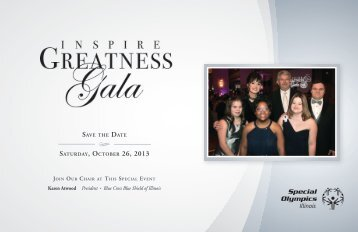 Inspire Greatness Gala – Save the Date - Special Olympics Illinois