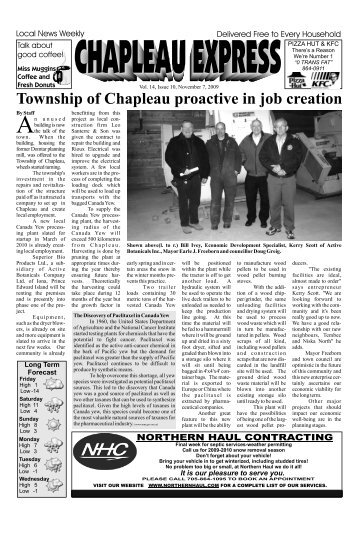 November 7 2009 - Chapleau Express