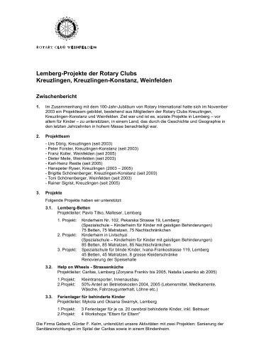 Zwischenbericht I Dezember 2005 - Rotary Club Weinfelden
