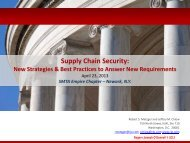 Supply Chain Security: - SMTA