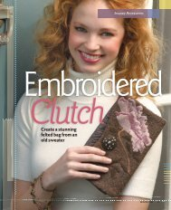 Embroidered Clutch - The Taunton Press