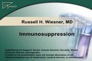 Immunosuppression - AASLD