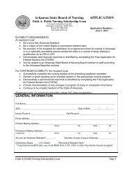 Arkansas State Board of Nursing APPLICATION