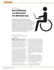 Beschäftigung von Menschen mit Behinderung - Profil - Pro Infirmis