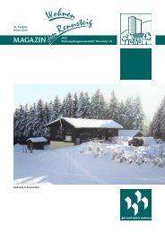 Magazin Winter 2010 - AWG Wohnungsbaugenossenschaft ...