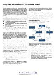 Integration der Methoden für Operationelle Risiken - Dr. Peter ...