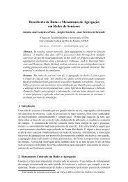 Descoberta de Rotas e Mecanismo de Agregaç ˜ao ... - GTA - UFRJ