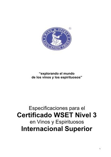 Certificado WSET Nivel 3 - Wine & Spirit Education Trust