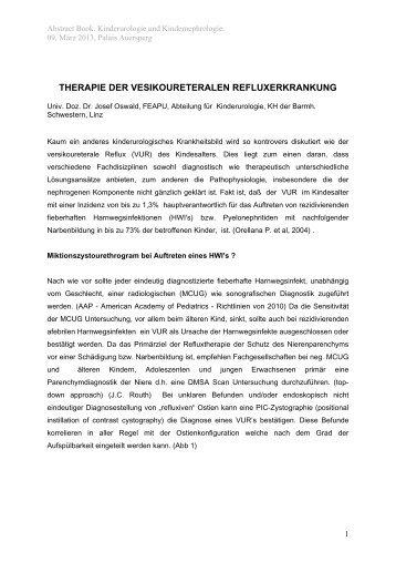 therapie der vesikoureteralen refluxerkrankung - Ferring