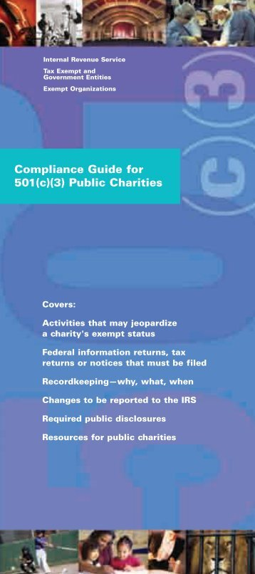 Compliance Guide for 501(c)(3) Public Charities